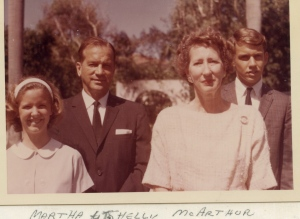 The McArthur family, probably in the 1970s.