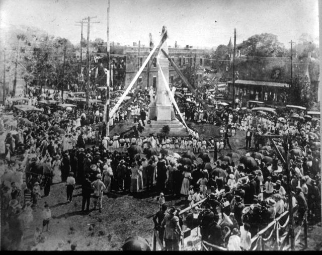 monument dedication aerial