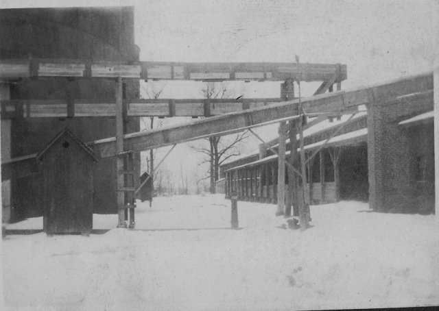 Buckeye Cottonseed Oil Mill in a ~ 1920 snow.